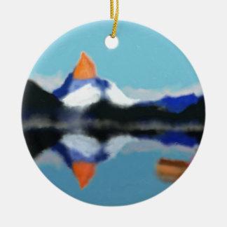 Ornement Rond En Céramique Canotage par art de montagnes