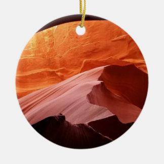 Ornement Rond En Céramique Canyon d'antilope