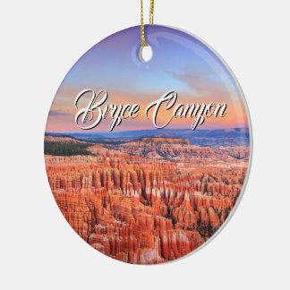 Ornement Rond En Céramique Canyon de Bryce