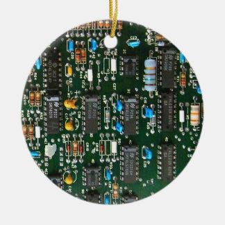 Ornement Rond En Céramique Carte électronique de l'électronique d'ordinateur