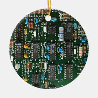 Ornement Rond En Céramique Carte électronique d'ordinateur