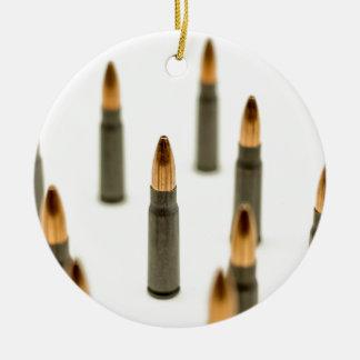 Ornement Rond En Céramique Cartouche 7.62x39 d'AK47 de balle de munitions