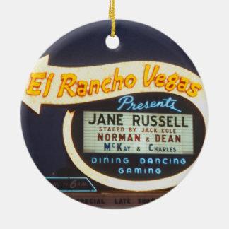 Ornement Rond En Céramique Casino 1959 de Las Vegas d'enseigne au néon d'EL
