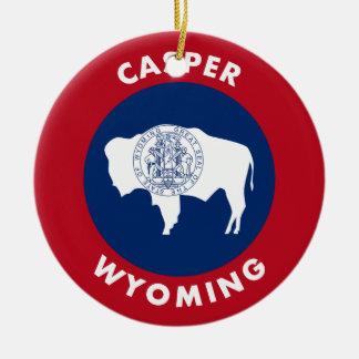 Ornement Rond En Céramique Casper, Wyoming