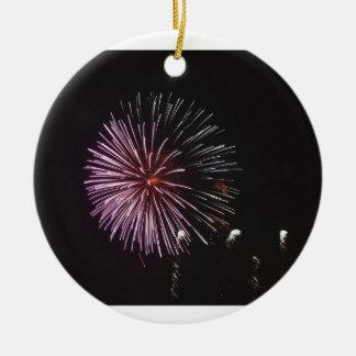 Ornement Rond En Céramique Célébration de Noël