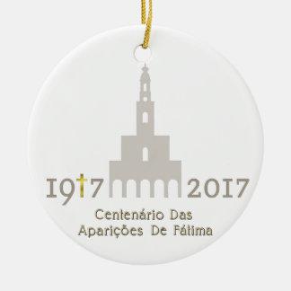 Ornement Rond En Céramique Centenário DAS Aparições de Fátima - Portugal