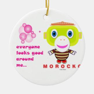Ornement Rond En Céramique Chacun semble bon autour de Monkey-Morocko.