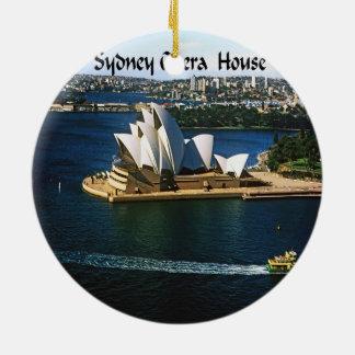 Ornement Rond En Céramique Chambre d'Oprea de port de Sydney