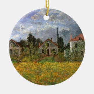 Ornement Rond En Céramique Chambres à Argenteuil par Claude Monet, art