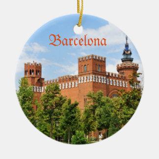 Ornement Rond En Céramique Château de Barcelone