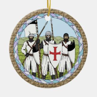 Ornement Rond En Céramique Chevaliers Templar