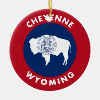 Ornement Rond En Céramique Cheyenne Wyoming