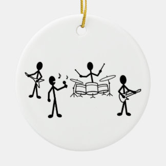 Ornement Rond En Céramique Chiffre de bâton de groupe de rock