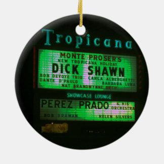 Ornement Rond En Céramique Circa l'enseigne au néon 1959 de casino de Las