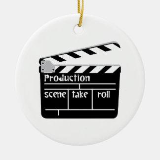 Ornement Rond En Céramique Clapet de film