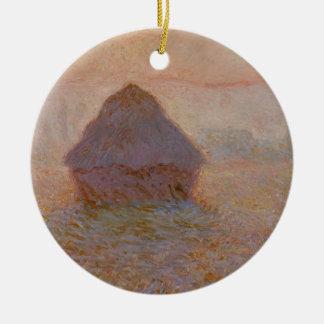 Ornement Rond En Céramique Claude Monet | Grainstack, Sun dans la brume