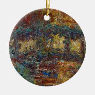 Ornement Rond En Céramique Claude Monet | le pont japonais