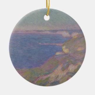 Ornement Rond En Céramique Claude Monet | les falaises s'approchent de Dieppe
