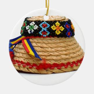 Ornement Rond En Céramique clop le casquette traditionnel
