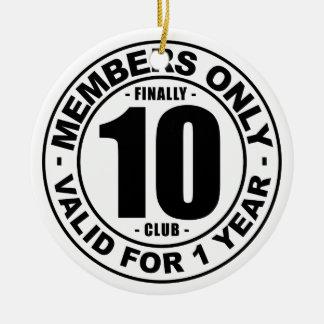 Ornement Rond En Céramique Club enfin 10