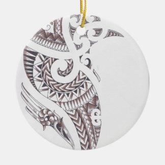 Ornement Rond En Céramique concepteur de luxe maori