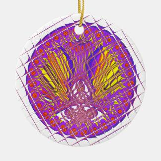 Ornement Rond En Céramique Conception colorée extraordinaire de motif de