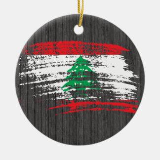 Ornement Rond En Céramique Conception libanaise fraîche de drapeau