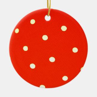 Ornement Rond En Céramique Concevez les points ronds simples Polk de mode de