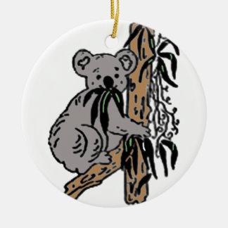 Ornement Rond En Céramique Consommation de koala