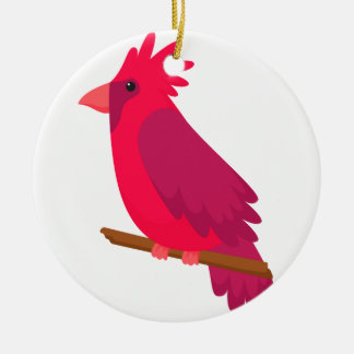 Ornement Rond En Céramique cool coloré de conception d'art d'oiseau