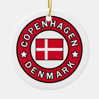 Ornement Rond En Céramique Copenhague Danemark