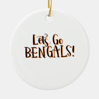 Ornement Rond En Céramique Copie de Bengals