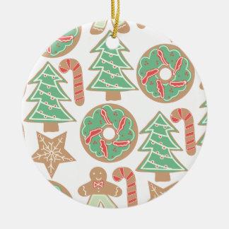 Ornement Rond En Céramique Copie de cuisson de Noël