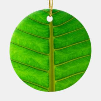Ornement Rond En Céramique Copie de palmier