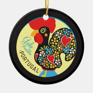 Ornement Rond En Céramique Coq célèbre de Barcelos #06 - Galo Barcelos