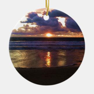 Ornement Rond En Céramique Coucher du soleil de Marina Del Rey