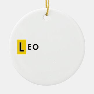 ORNEMENT ROND EN CÉRAMIQUE COULEUR DE LION