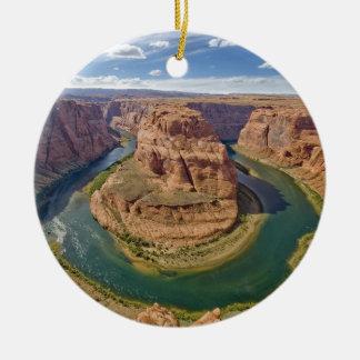 Ornement Rond En Céramique Courbure en fer à cheval, canyon grand