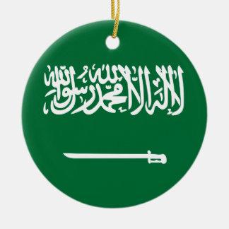Ornement Rond En Céramique Coût bas ! Drapeau de l'Arabie Saoudite