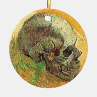 Ornement Rond En Céramique Crâne par Vincent van Gogh, impressionisme vintage