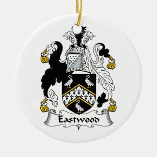 Ornement Rond En Céramique Crête de famille d'Eastwood