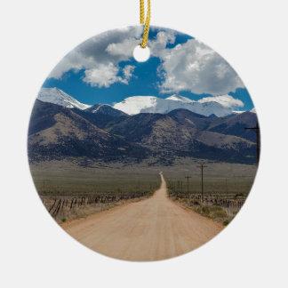Ornement Rond En Céramique Croisière de route de dos de vallée de San Luis