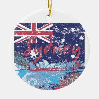 Ornement Rond En Céramique cru australie de Sydney