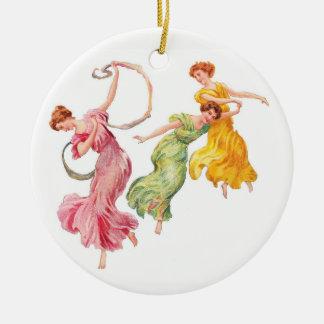 Ornement Rond En Céramique Danse pour la joie
