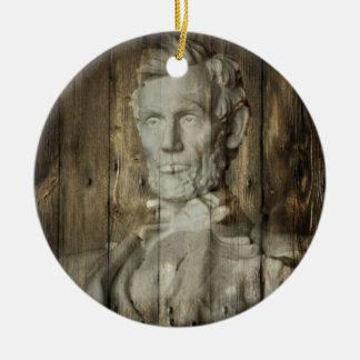 Ornement Rond En Céramique DC Abraham Lincoln du Lincoln Memorial Washington
