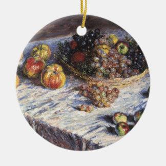 Ornement Rond En Céramique De Claude Monet toujours la vie avec des pommes et