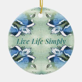 Ornement Rond En Céramique 'De la vie mode de vie vivant bien aéré léger