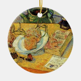 Ornement Rond En Céramique De Van Gogh de post impressionnisme toujours art