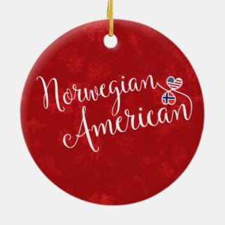 Ornement Rond En Céramique Décoration américaine norvégienne de vacances de