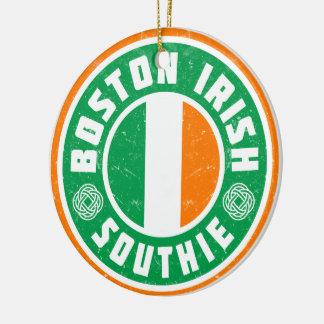 Ornement Rond En Céramique Décoration de Southie d'Irlandais de Boston